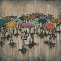 A Sea of Umbrellas II Fine Art Print