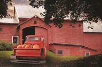 Red Pumpkin Truck Fine Art Print