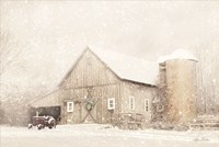 NY Winter Barn Fine Art Print