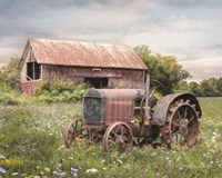 Clayton Tractor Framed Print