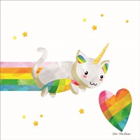 Rainbow Caticorn I Fine Art Print