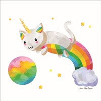 Rainbow Caticorn II Fine Art Print