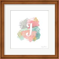 Abstract Monogram J Fine Art Print