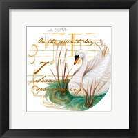 Seven Swans a-Swimming Fine Art Print