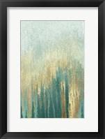Teal Golden Woods Fine Art Print