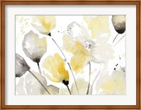 Neutral Abstract Floral II Fine Art Print