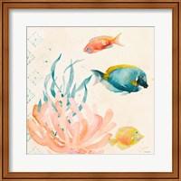 Tropical Teal Coral Medley II Fine Art Print