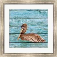 Wood Pelican I Fine Art Print