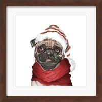 Holiday Pug Fine Art Print
