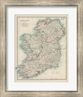 Map of Ireland Fine Art Print