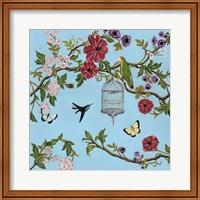 Bird Song Chinoiserie I Fine Art Print