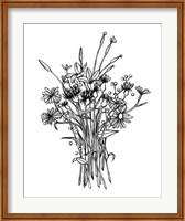 Black & White Bouquet I Fine Art Print