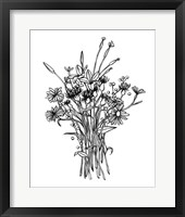 Black & White Bouquet I Fine Art Print