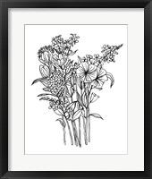 Black & White Bouquet II Fine Art Print