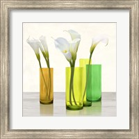 Callas in crystal vases I (detail) Fine Art Print