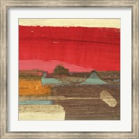 Moon Rising from the Crimson Sky II Fine Art Print