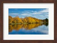 Autumn Colour And Clutha River At Kaitangata, South Island, New Zealand Fine Art Print