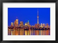 Toronto Skyline At Dusk Fine Art Print