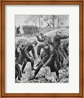Ww1(1914-1918) Occupation Of Belgium By German Troops (August 1914) Fine Art Print