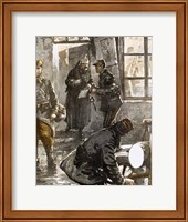 World War I (1914-1918) Generals Joffre And French Studying The Progress Of Operations Fine Art Print