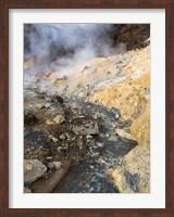Geothermal Area Seltun Heated By The Volcano Krysuvik On Reykjanes Peninsula During Winter Fine Art Print