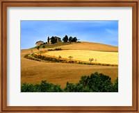 Italy, Tuscany, Farmhouse And Fields Fine Art Print