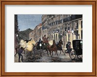 Attack On Isabella II (1830-1904) And King Francis Of Spain (1822-1902) Madrid Fine Art Print