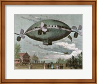 Aerostat Engraving In 'The Illustration', 1887 Fine Art Print