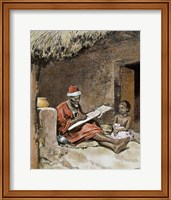 An Old Man With Child French Sudan 1893 Fine Art Print