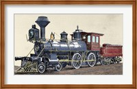 Locomotive Drawing R Loewenstein 'La Ilustracion' 1881 Fine Art Print