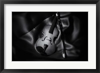 Still-Life Black And White Image Of A Violin Fine Art Print