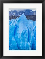 Chile, Patagonia, Torres Del Paine National Park Blue Glacier And Mountains Fine Art Print