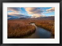 Panoramic View Of A River And The Sierra Nevada Mountains Fine Art Print