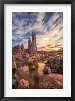 Tufas At Sunset On Mono Lake Fine Art Print
