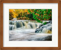 Bond Falls On The Middle Fork Of The Ontonagon River Fine Art Print