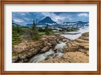 Snowmelt Stream In Glacier National Park, Montana Fine Art Print