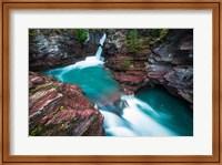 St Mary Falls, Glacier National Park, Montana Fine Art Print