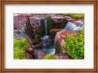 Triple Falls, Glacier National Park, Montana Fine Art Print