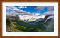 Panorama Of Logan Pass, Glacier National Park, Montana Fine Art Print