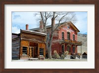 An 1862 Gold Rush Town In Bannack, Montana Fine Art Print