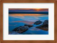 Rocky Seashore Of Cape May, New Jersey Fine Art Print