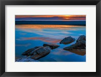 Rocky Seashore Of Cape May, New Jersey Fine Art Print