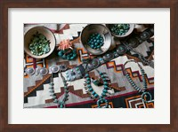 Display Of Turquoise Accessories, Santa Fe, New Mexico Fine Art Print