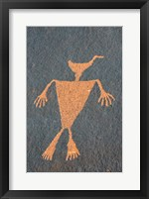 Detail Of A Duck Headed Man Petroglyph, Utah Fine Art Print