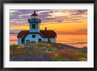 Patos Lighthouse At Sunset, Washington State Fine Art Print