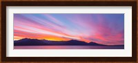 Sunset Panoramic Over The Olympic Mountains And Hood Canal Fine Art Print