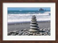 Stacked Beach Rocks, Washington State Fine Art Print