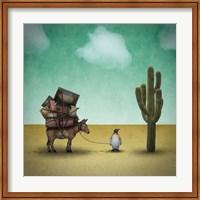 Mr. Penguin Goes on Holiday Fine Art Print