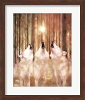 Three Wolf Howl Fine Art Print