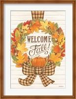 Welcome Fall Wreath Fine Art Print